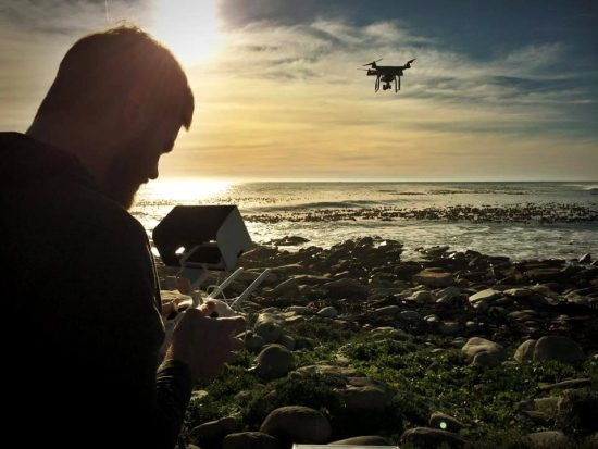 Eddie Oosthuizen flying his drone taking beautiful photos