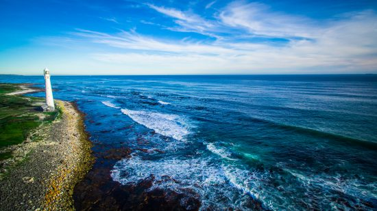 eddie oosthuizen cape town lighthouse ocean sea waves drone