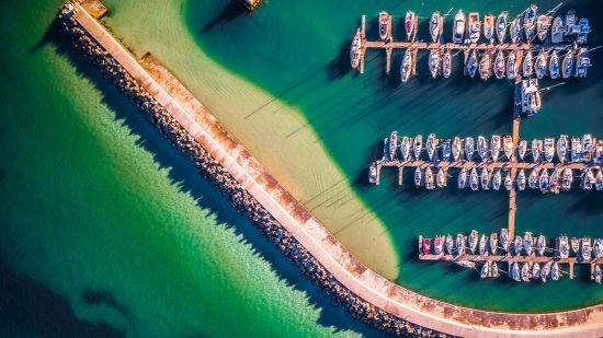 eddie oosthuizen drone harbour boats ocean sea